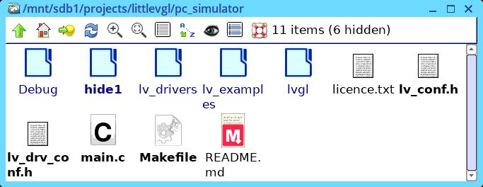 Tentative first step framebuffer with LittleVGL